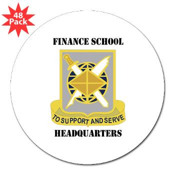 "FSH - M01 - 01 - DUI - Finance School Headquarters with Text - 3"" Lapel Sticker (48 pk)"