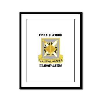 FSH - M01 - 02 - DUI - Finance School Headquarters with Text - Framed Panel Print
