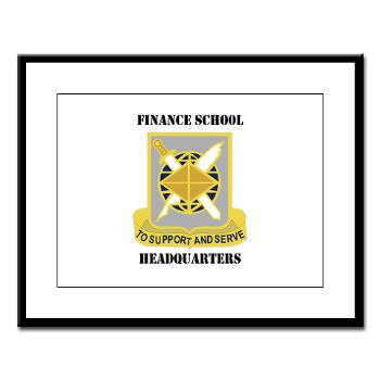 FSH - M01 - 02 - DUI - Finance School Headquarters with Text - Large Framed Print