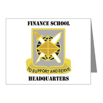 FSH - M01 - 02 - DUI - Finance School Headquarters with Text - Note Cards (Pk of 20)