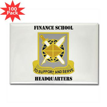 FSH - M01 - 01 - DUI - Finance School Headquarters with Text - Rectangle Magnet (100 pack)