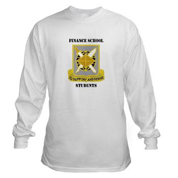 FSS - A01 - 03 - DUI - Finance School Students with Text - Long Sleeve T-Shirt