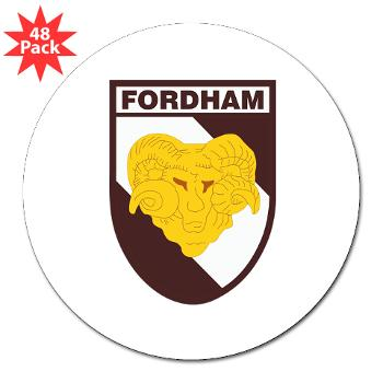 "FU - M01 - 01 - SSI - ROTC - Fordham University - 3"" Lapel Sticker (48 pk)"