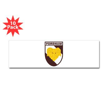 FU - M01 - 01 - SSI - ROTC - Fordham University - Sticker (Bumper 10 pk)