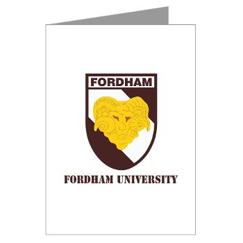 FU - M01 - 02 - SSI - ROTC - Fordham University with Text - Greeting Cards (Pk of 10)