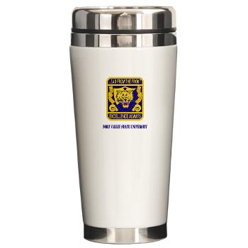 FVSU - M01 - 03 - Fort Valley State University with Text - Ceramic Travel Mug