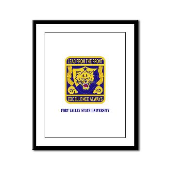 FVSU - M01 - 02 - Fort Valley State University with Text - Framed Panel Print
