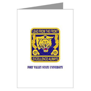 FVSU - M01 - 02 - Fort Valley State University with Text - Greeting Cards (Pk of 10)