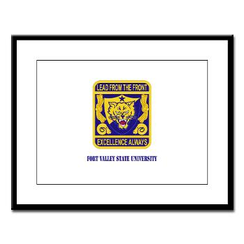 FVSU - M01 - 02 - Fort Valley State University with Text - Large Framed Print