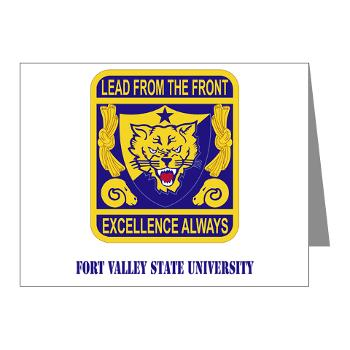 FVSU - M01 - 02 - Fort Valley State University with Text - Note Cards (Pk of 20)