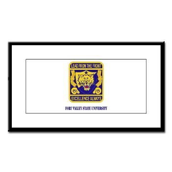 FVSU - M01 - 02 - Fort Valley State University with Text - Small Framed Print