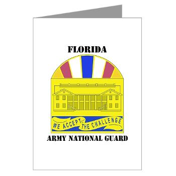 FloridaARNG - M01 - 02 - DUI - FLORIDA Army National Guard With Text - Greeting Cards (Pk of 20)