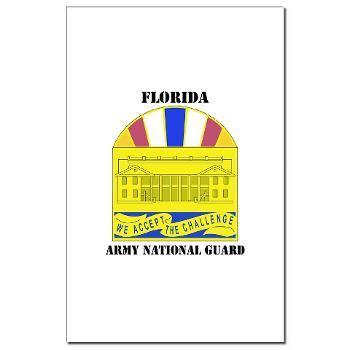 FloridaARNG - M01 - 02 - DUI - FLORIDA Army National Guard With Text - Mini Poster Print