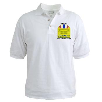 FloridaARNG - A01 - 04 - DUI - Florida Army National Guard With Text - Golf Shirt