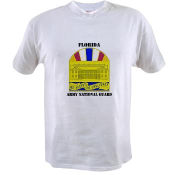 FloridaARNG - A01 - 04 - DUI - Florida Army National Guard With Text - Value T-shirt