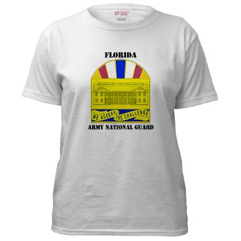 FloridaARNG - A01 - 04 - DUI - Florida Army National Guard With Text - Women's T-Shirt