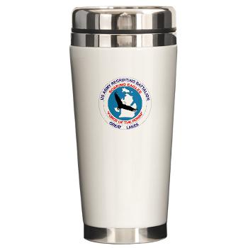 GLRB - M01 - 03 - DUI - Great lakes Recruiting Bn - Ceramic Travel Mug