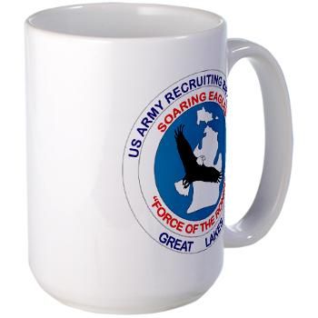 GLRB - M01 - 03 - DUI - Great lakes Recruiting Bn - Large Mug