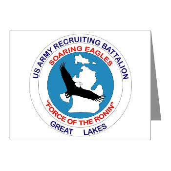 GLRB - M01 - 02 - DUI - Great lakes Recruiting Bn - Note Cards (Pk of 20)