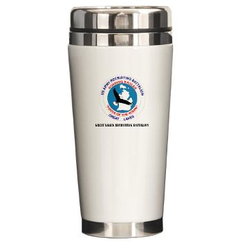 GLRB - M01 - 03 - DUI - Great lakes Recruiting Bn with text - Ceramic Travel Mug