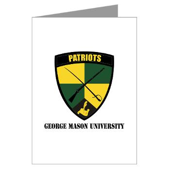 GMU - M01 - 02 - SSI - ROTC - George Mason University with Text - Greeting Cards (Pk of 10)