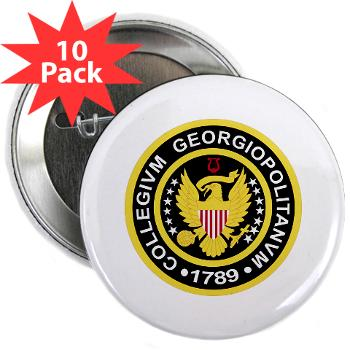 "GU - M01 - 01 - SSI - ROTC - Georgetown University - 2.25"" Button (10 pack)"
