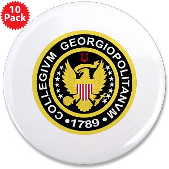 "GU - M01 - 01 - SSI - ROTC - Georgetown University - 3.5"" Button (10 pack)"