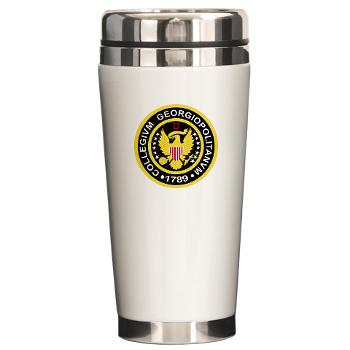 GU - M01 - 03 - SSI - ROTC - Georgetown University - Ceramic Travel Mug