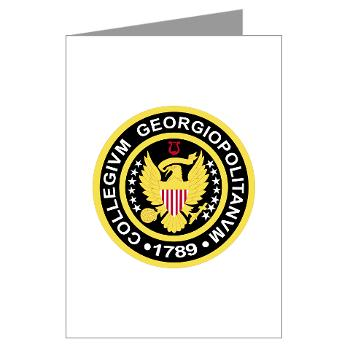 GU - M01 - 02 - SSI - ROTC - Georgetown University - Greeting Cards (Pk of 20)