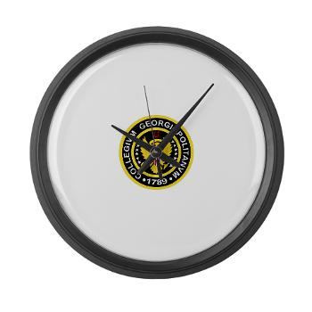 GU - M01 - 03 - SSI - ROTC - Georgetown University - Large Wall Clock