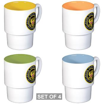 GU - M01 - 03 - SSI - ROTC - Georgetown University - Stackable Mug Set (4 mugs)