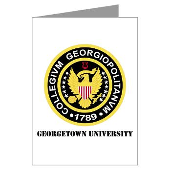 GU - M01 - 02 - SSI - ROTC - Georgetown University with Text - Greeting Cards (Pk of 10)