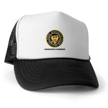 GU - A01 - 02 - SSI - ROTC - Georgetown University with Text - Trucker Hat
