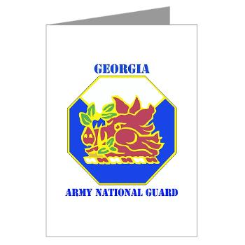 GeorgiaARNG - M01 - 02 - DUI - Georgia Army National Guard with text - Greeting Cards (Pk of 10)