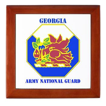GeorgiaARNG - M01 - 03 - DUI - Georgia Army National Guard with text - Keepsake Box