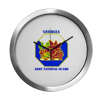 GeorgiaARNG - M01 - 03 - DUI - Georgia Army National Guard with text - Modern Wall Clock