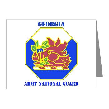 GeorgiaARNG - M01 - 02 - DUI - Georgia Army National Guard with text - Note Cards (Pk of 20)