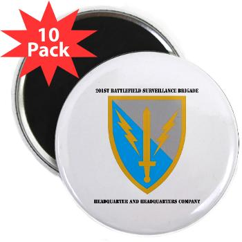 "HHC - A01 - 01 - DUI - Headquarter and Headquarters Coy with Text - 2.25"" Magnet (10 pack)"