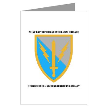 HHC - A01 - 02 - DUI - Headquarter and Headquarters Coy with Text - Greeting Cards (Pk of 10)