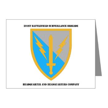HHC - A01 - 02 - DUI - Headquarter and Headquarters Coy with Text - Note Cards (Pk of 20)