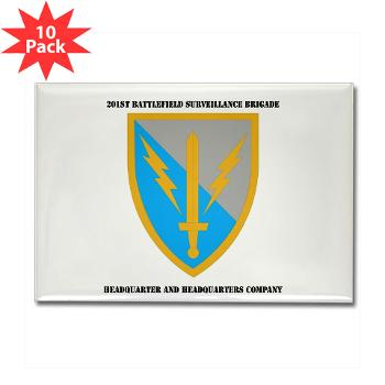 HHC - A01 - 01 - DUI - Headquarter and Headquarters Coy with Text - Rectangle Magnet (10 pack)