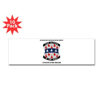 HHC120IB - M01 - 01 - HHC - 120th Infantry Brigade with Text - Sticker (Bumper 10 pk)