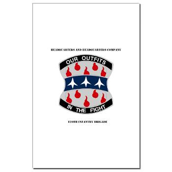 HHC120IB - M01 - 02 - HHC - 120th Infantry Brigade with Text - Mini Poster Print