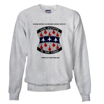 HHC120IB - A01 - 03 - HHC - 120th Infantry Brigade with Text - Sweatshirt