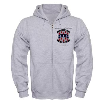 HHC120IB - A01 - 03 - HHC - 120th Infantry Brigade with Text - Zip Hoodie