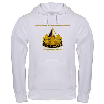 HHC158IB - A01 - 03 - HHC - 158th Infantry Brigade with Text - Hooded Sweatshirt