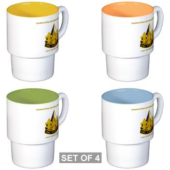 HHC158IB - M01 - 03 - HHC - 158th Infantry Brigade with Text - Stackable Mug Set (4 mugs)