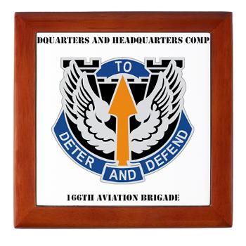 HHC166AB - M01 - 03 - HHC - 166th Aviation Brigade with Text - Keepsake Box