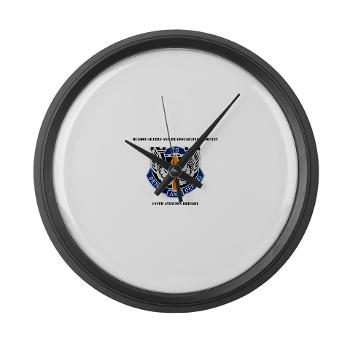 HHC166AB - M01 - 03 - HHC - 166th Aviation Brigade with Text - Large Wall Clock