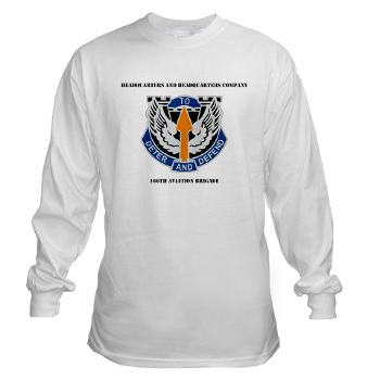 HHC166AB - A01 - 03 - HHC - 166th Aviation Brigade with Text - Long Sleeve T-Shirt